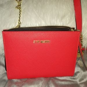 Red Small Steve Madden crossover purse